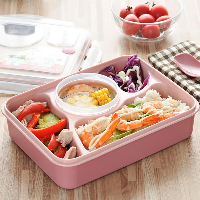1 pz food grade plastica lunch box bento cibo container ufficio scolastico bento lunchbox per adulti