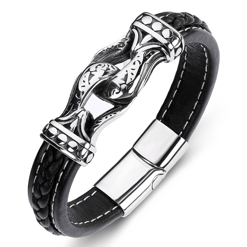 Men Leather Bracelet...