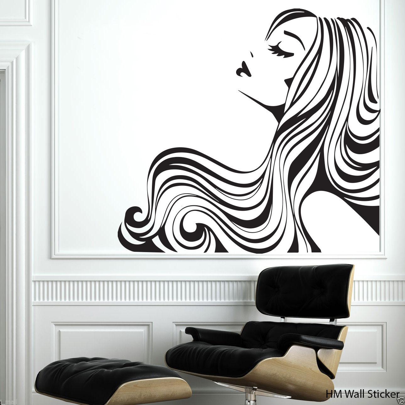G145 cabellera pegatinas de pared desmontable etiqueta for Pegatinas vinilo decoracion