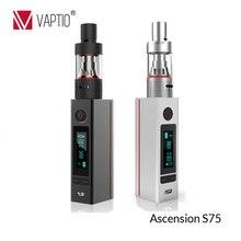Vaptio vaporizerบุหรี่อิเล็กทรอนิกส์ชุดเลขหมายcigอีถังอิเล็กทรอนิกส์cigarette75Wขนาดใหญ่ไอ