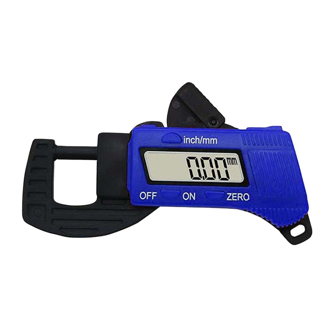 1pcs Digital Thickness Gauge 0.01mm Mini Dial Thickness Gauges Meter Carbon Fiber Composite Meter Width Measurement Tools Bule