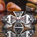 Fashion Amazing Mens Boys Silver Stainless Steel Bracelet Skull Cross Punk Cuff Bangle Bracelet Wholesale Jewelry Gift