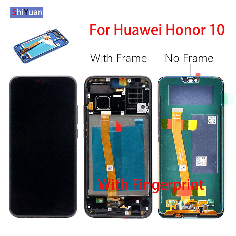 """Original 5.84"""" LCD Display Touch Screen For Huawei Honor 10 Honor10 Digitizer with Frame FingerPrint Sensor COL AL10 COL L29 L19-in Mobile Phone LCD Screens from Cellphones & Telecommunications"""