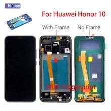 """Originale 5.84 """"Display LCD Dello Schermo di Tocco Per Huawei Honor 10 Honor10 Digitizer con Telaio Sensore di Impronte Digitali COL AL10 COL L29 L19"""