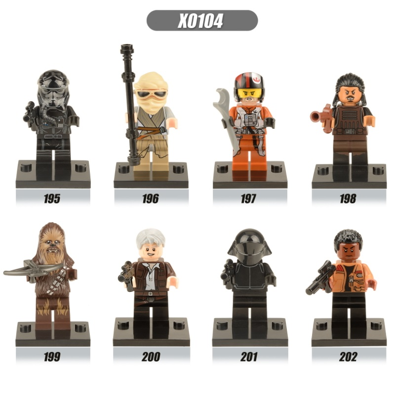 Single Sale Space Wars The Force Awakens Chewbacca Kylo Ren Han Solo Super Heroes Building Blocks Bricks Toys For Children X0104