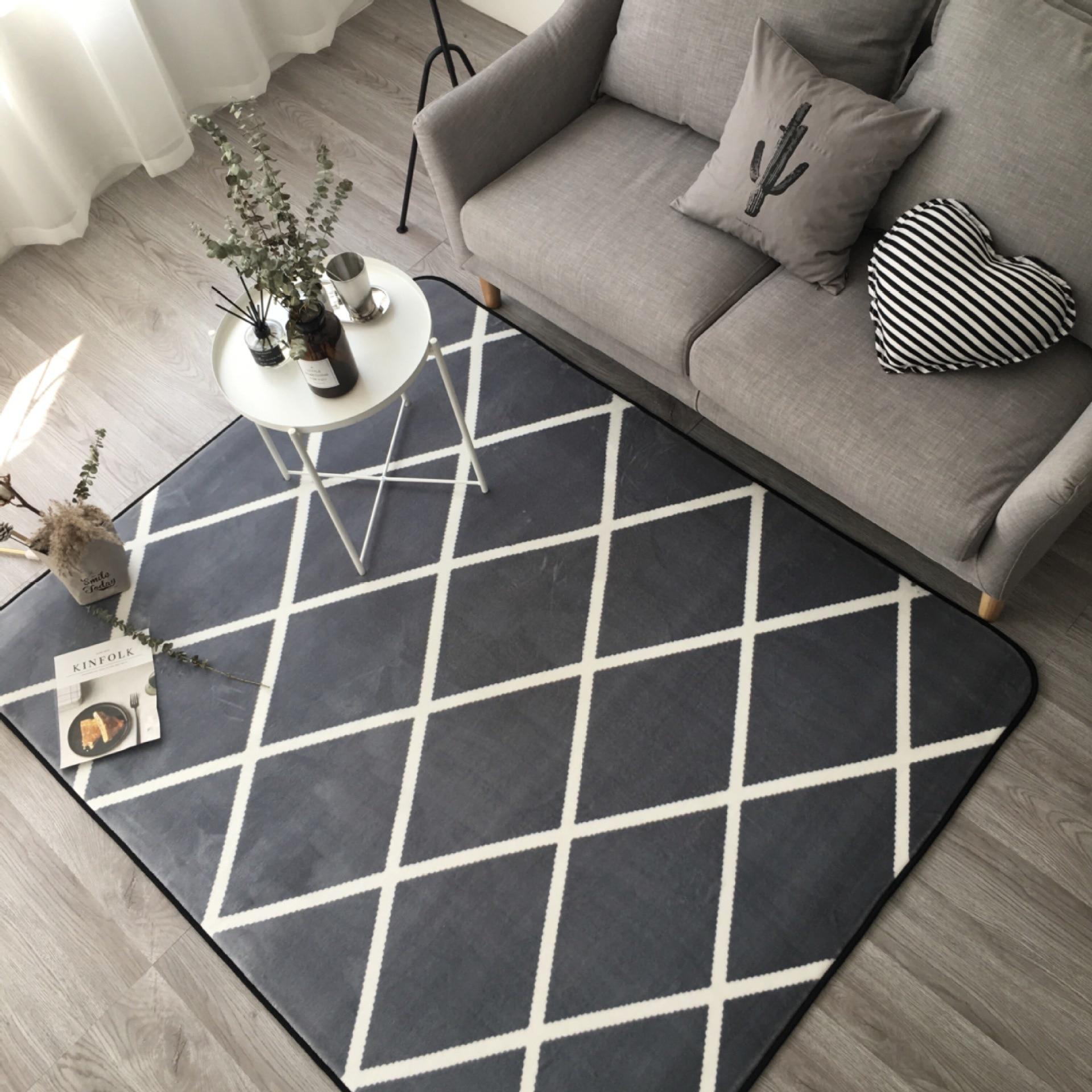 Grande taille flanelle tapis doux tapis antidérapants tapis de sol pour salon chambre fournitures de maison