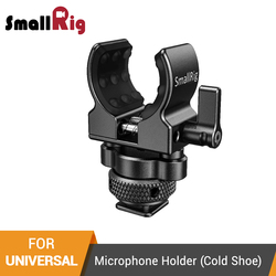 SmallRig DSLR Camera Cage Microphone Holder (Cold Shoe) With 19-25mm Diameter Microphone Shock Clamp Holder - 2352