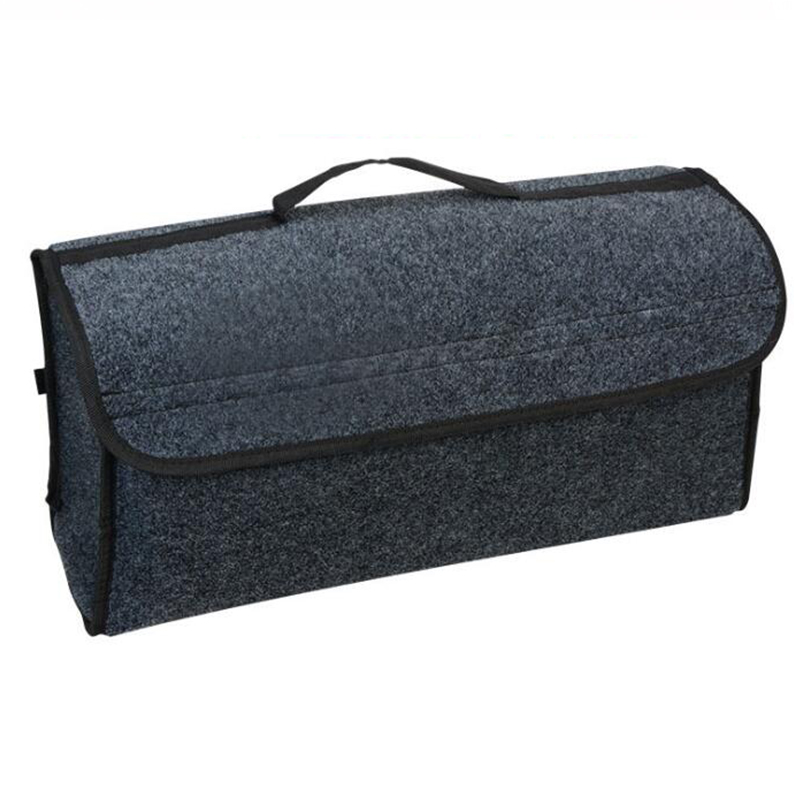 Car Soft Felt Storage Box Trunk Bag Vehicle Tool Box Multi-use Tools Organizer Bag Carpet Folding for emergency Box(China)