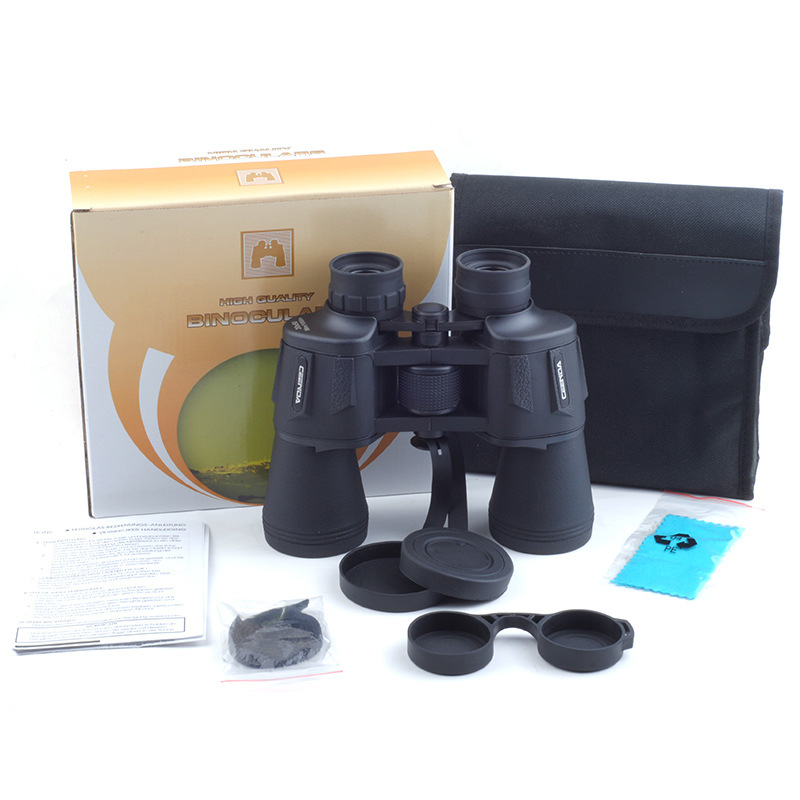 20x50 High magnification long range zoom hunting telescope Binoculars HD Professiona High power HD Low light night vision in Monocular Binoculars from Sports Entertainment