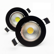 New arrivel LED Dimmable Led downlight lamp COB  7w 10W 12w Spot light 85-265V ceiling recessed Lights Indoor Lighting