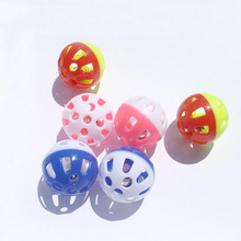 Wholesale Tinkle Bell Ball Pet Toy Plastic Dog Cat Playing Ball Funny Toys Pet Products