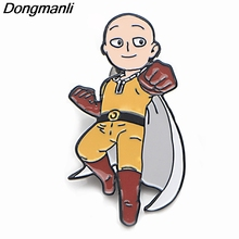 P3786 Dongmanli Anime ONE PUNCH-MAN Metal Enamel Brooches and Pins Collection Lapel Pin Backpack Badge Collar Jewelry