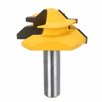 1pc New 45 Degree Medium Lock Miter Router Bit 1 2 Shank Joint Tenon Cutter For