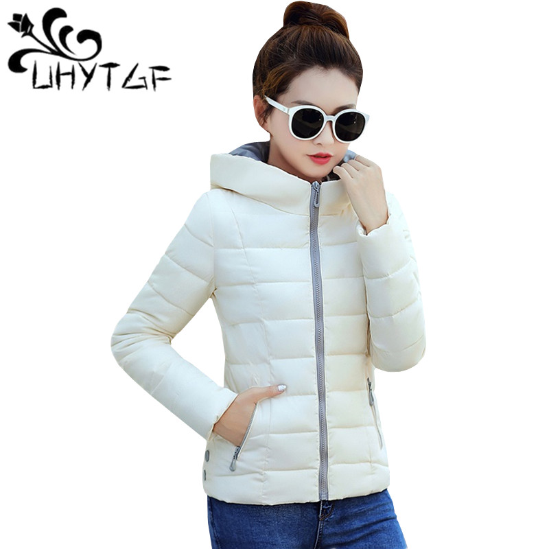 UHYTGF Autumn Winter   Parka   Thin Cotton Jacket Women Tops Short Coat Fashion Korean Slim Hoodies Wild Student Down Cotton Jacket