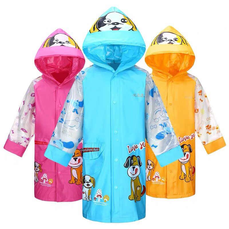 קריקטורה חמוד מעיל גשם לילדים ילד בנות אטים לגשם Waterproof בגדי גשם Rainsuit תלמיד באיכות פונצ 'ו ילדים גשם מעיל