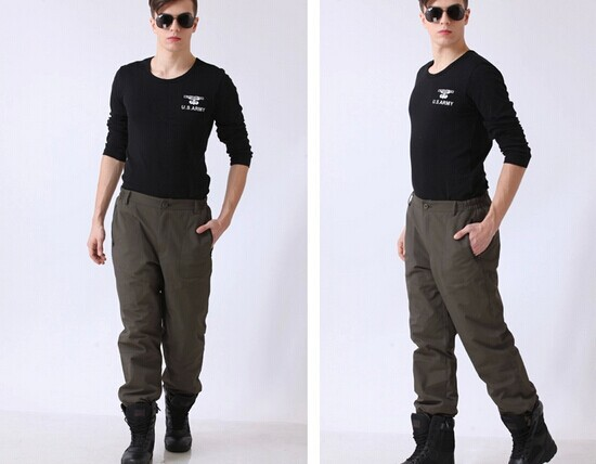 ФОТО Military army pants outdoor waterproof windproof Trousers male and female couple thickened climbing fleece pants army pants