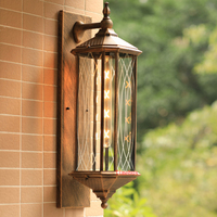 Vintage European style outdoor wall lamp coffee shop hotel corridor wall sconce retro waterproof outdoor light outside lights
