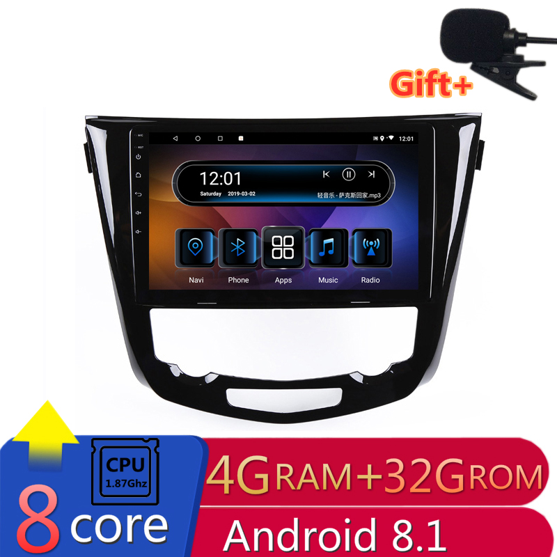 "10.1"" 4G RAM 8 cores Android Car DVD GPS Navigation For Nissan X-Trail 2014-2016 Qashqai audio stereo car radio headunit wifi"