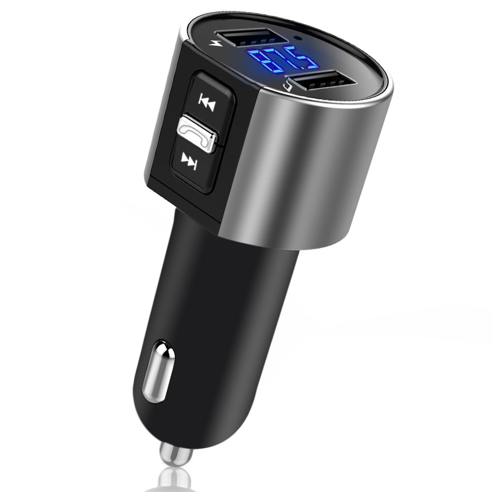 Bluetooth FM Transmitter Wireless In-Car <font><b>MP3</b></font> Player Bluetooth Transmitter Radio FM Transmitter with Dual USB port for SmartPhone