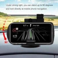 Novo 1 pçs hud carregador sem fio navegação display titular de carregamento ajustável 180 graus para o carro
