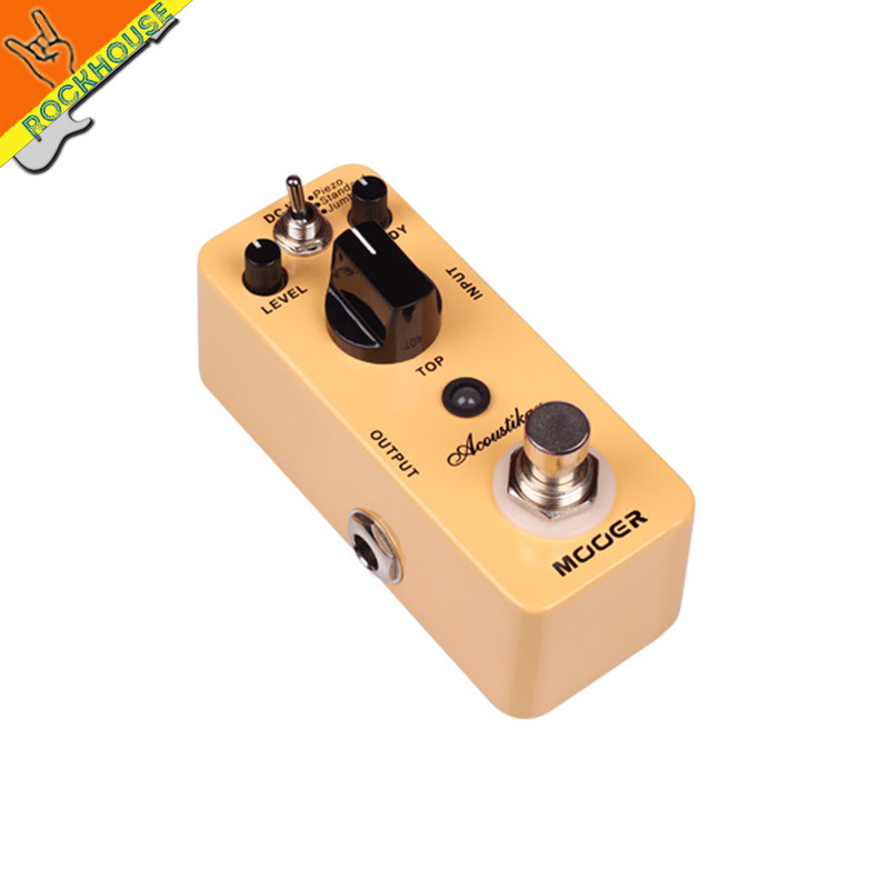 ФОТО MOOER acoustic guitar simulator guitar effect pedal only need an electric guitar on the stage true bypass  free shipping