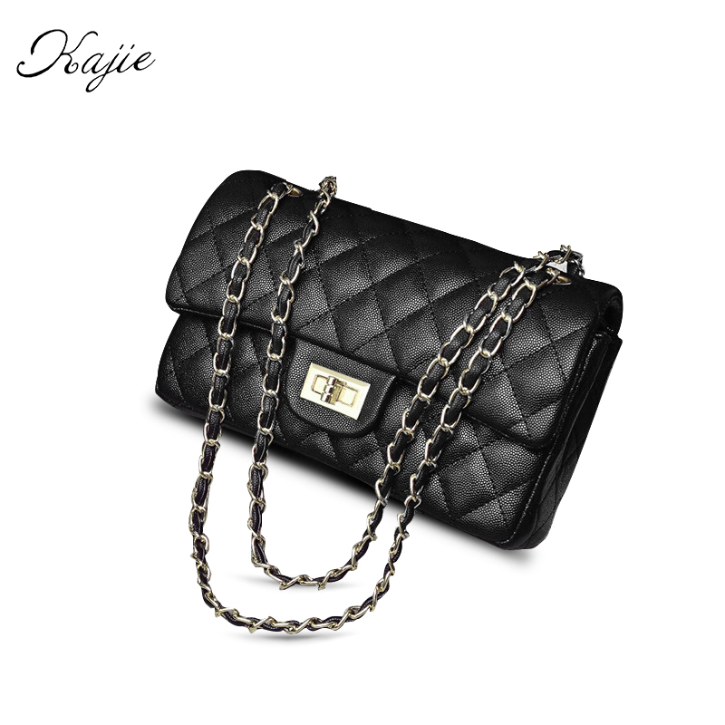 2018 New Black Caviar Luxury Handbags Women Messenger Bags Female Crossbody Bags For Women Golden Chain Shoulder Bag Diamond marlies moller luxury golden caviar сухой спрей для придания объема luxury golden caviar сухой спрей для придания объема