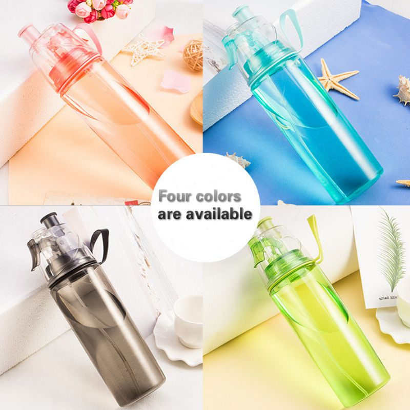 600ml my water bottle spray Ride Cooling down shaker botella de agua whey protein copo com canudo camping sport water bottle