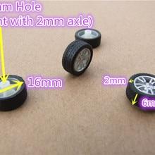 4 шт. K405B 16 мм диаметр мини резиновые колеса четыре колеса автомобиля колеса DIY игрушки запчасти в убыток США Беларусь Украина