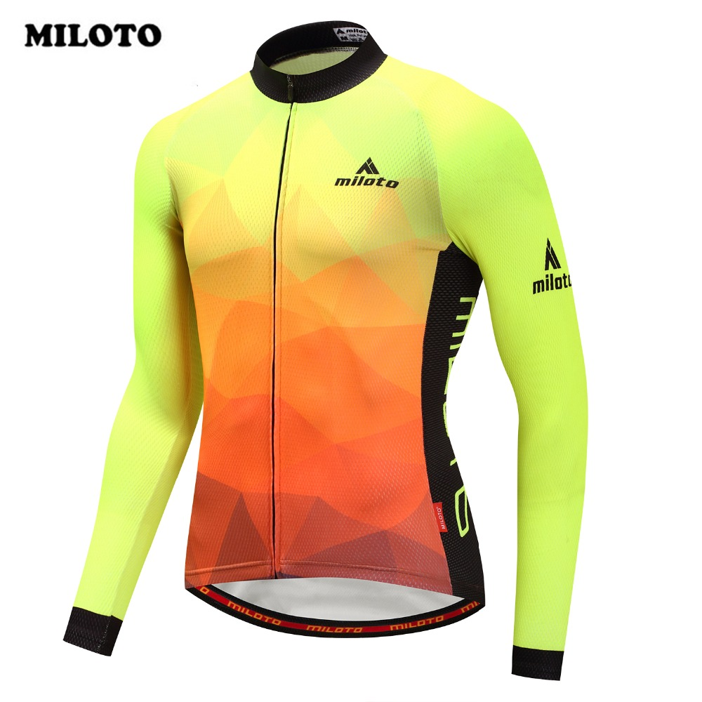 Miloto Bike Team Pro Cycling Jersey Long Sleeve Autumn Summer Riding mtb Ropa Ciclismo Bike Jersey Maillot Bicycle Clothing