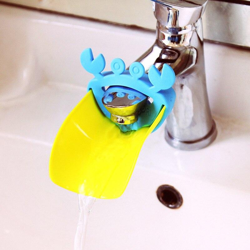 Cute Crab Style Bathroom Sink Faucet Chute Extender Children Kids ...