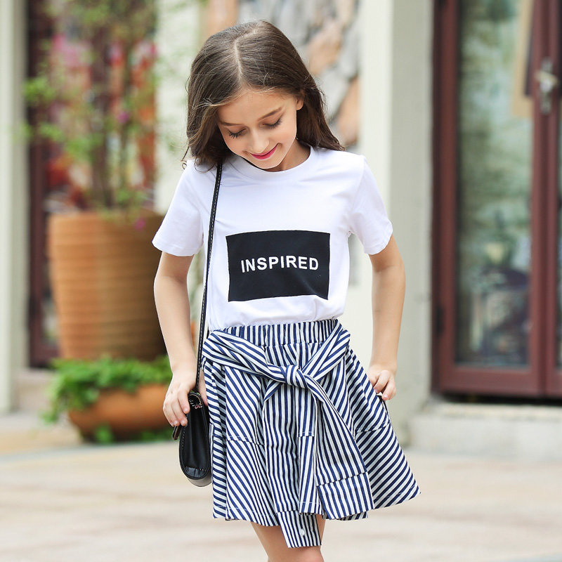 2016 Summer Organic Cotton T shirts for Girls 5 6 7 8 9 10 11 12 13 14 T Years Old Teenagers Kids Clothes For Girls Sports Top-in Tees from Mother ...
