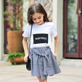 2016 Summer Organic Cotton T-shirts for Girls 5 6 7 8 9 10 11 12 13 14 T Years Old Teenagers Kids Clothes For Girls Sports Top