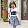 2016 Verano de Algodón Orgánico Camisetas para Las Muchachas 5 6 7 8 9 10 11 12 13 14 T Años Adolescentes Niños Ropa Para Niñas Deportes Top