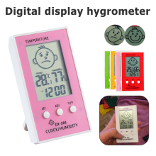 Weather Station LCD Thermometer Hygrometer Indoor Outdoor Thermometer Precise Hygrometer Clock Humidity Temperature Meter victor 307c ir thermometer hygrometer thermometer lcd display