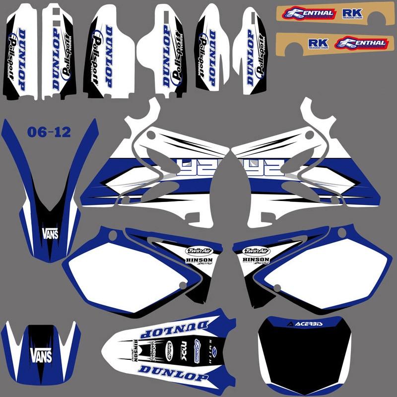 NICECNC Fundo Gráficos Decalques Kit Para Yamaha YZ 125 250 YZ125 YZ250 2002-2014 Nova Correspondência Frente Traseira Fender adesivo tanque