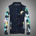 Бесплатная доставка 2015 осень и зима взрыва модели смешанных цветов мода свободного покроя камуфляж куртка