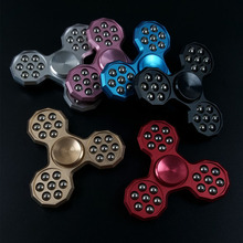 21 Balls Tri Spiner Hand Figet spiner and figet toys with bearing metal box Gold Black