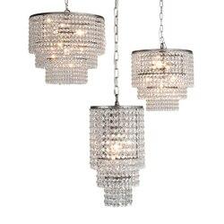 Kryształowa lampa wisząca nowoczesna lampa wisząca w stylu skandynawskim oprawy salon światła wiszące sypialnia oczekująca oprawa oświetleniowa Suspendu|Wiszące lampki|   -