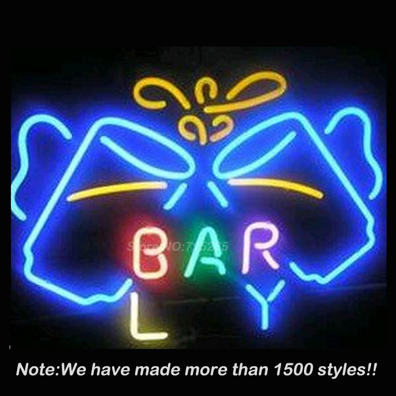 Beer Bar Cup Handcrafted Neon Sign Neon Bulbs Store Display Real Glass Tube Handcrafted Art Design Advertising Great Gifts 19x15