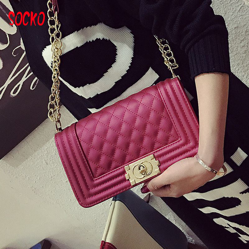 Women Messenger Bags Quilted Pu Leather Women Bag Chain Cross-body Handbags Women's Handbag Brand Lady Shoulder bag h43