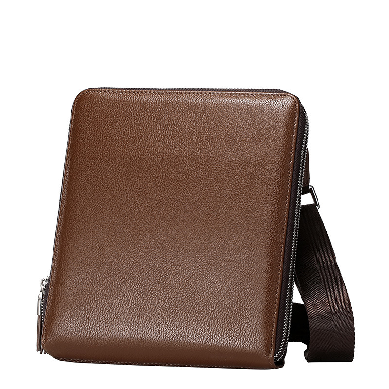 Genuine Leather Men Bag Vintage Cowhide Leather Men Bags Three Size Business Shoulder Bag Simple Design Messenger Bag