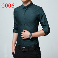 Y1 Spring Autumn Features Shirts Men Casual Long Sleeve Casual Slim Fit Male Shirts G006