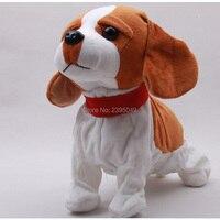 かわいい電子犬ペットサウンド制御インタラクティブロボット玩具犬樹皮スタンドウォーク折衷ペットおもちゃクリスマスギフト用キッズ