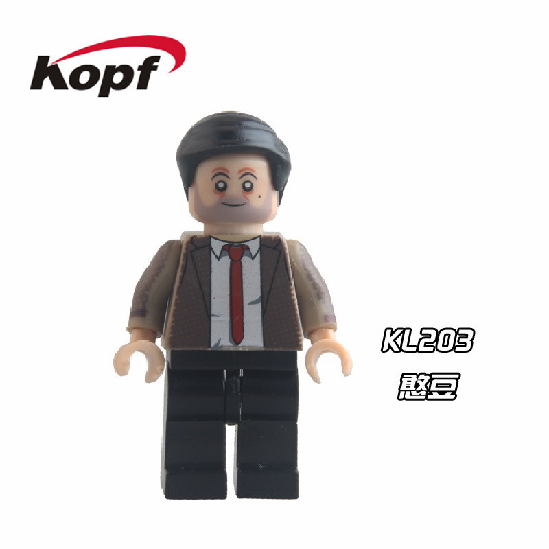 Single Sale Super Heroes Star Wars Mr Bean Morgan Bricks Action Figures DIY Assemble Building Blocks Toys for children KL203 single building blocks kits ninja pythor kozu lloyd zane nya figures super heroes star wars model bricks kids toys hobbies x0143