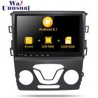2 DIN Авторадио Восьмиядерный 9 дюймов Android 8,1 автомобильный Радио плеер для Ford Mondeo 2013 Автомобильный gps Навигация стерео с BT wifi без DVD