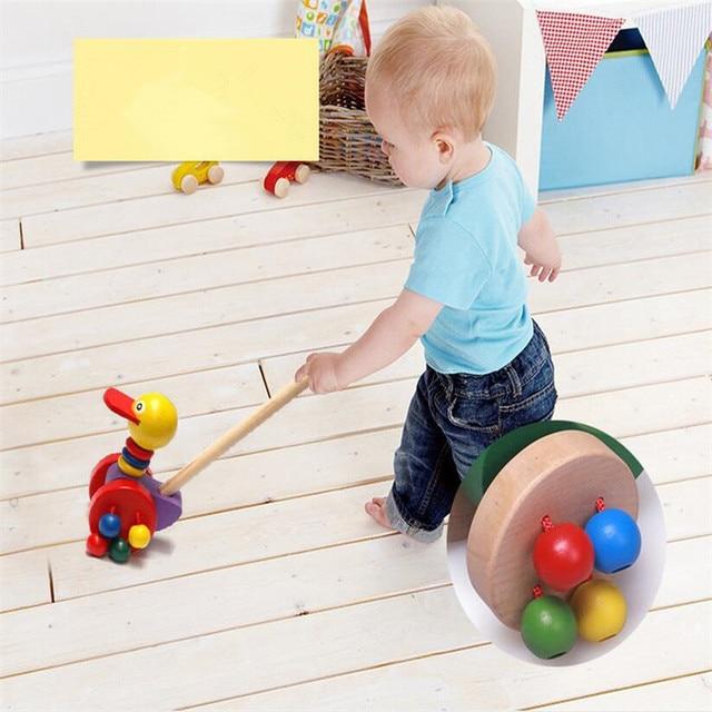 1x Wooden Wonders Push N Pull Kid Learn Walking Waddling Duckling