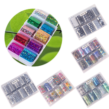 New Hot 10Pcs Holographic Nail Art Transfer Foil Stickers Paper Starry AB Color UV Gel Wraps Adhesive Decals 2.5*100cm
