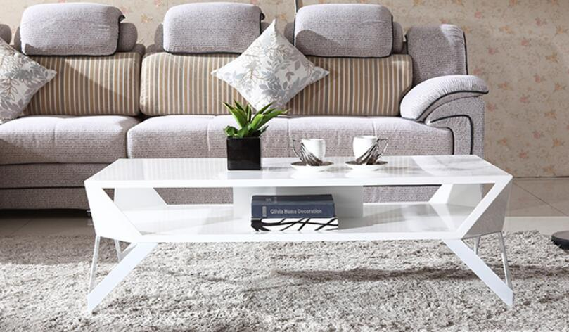The new double white table fashion all of the lacquer that bake tea table 1.2 meters