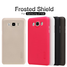 Nillkin for Samsung J7 2016 case Frosted Shield hard cover for Samsung J7108 phone cases for J7108 cover + protective film