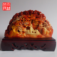 Shoushan Stone Carving Smooth Decoration Crafts Gift Bag Mail Home Furnishing Home Feng Shui